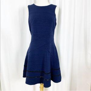 Anthropologie | Adelyn Rae Blue Fit & Flare Dress